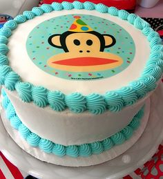 Yummm! We want a slice of this adorable Paul Frank-ified cake!