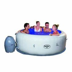 SaluSpa Paris AirJet Inflatable Hot Tub w/ LED Light Show for sale online Splish Splash, Inflatable Hot Tub Reviews, Best Above Ground Pool, Portable Spa, Outdoor Spa, Spa Water, Spa Massage, Wooden Decks, Heating Systems