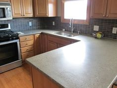 Concrete countertops are a great option for homeowners looking to replace existing counters, as they can be custom made to fit any existing décor.  Featured 8/10/12.  Creative Concrete Studio Waterville, OH