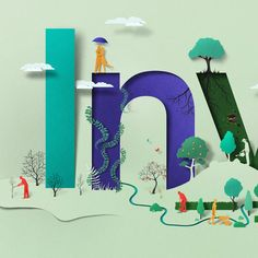 Estonian artist Eiko Ojala used his signature papercut style to produce these typographic illustrations for South African investment bank Sygnia. Eiko Ojala, Kids Story Books, Graphic Design Print, Book Cover Design, Paper Cutting, Cut Paper, Oeuvre D'art, Creative Art, Amazing Art