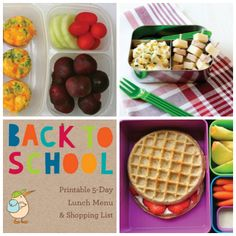 Printable 5-Day School Lunch Plan + Recipes