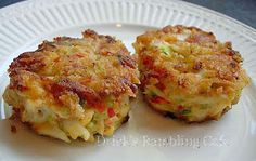 Jumbo Lump Crab Meat blended in a devilish Creole sauce - purest crab cake I have ever made.  These CRABCAKES have the breading on the outside that forms a wonderful crust.