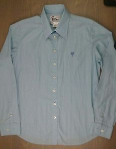 Lilly-Pulitzer-Shirt-10-Womens-Button-Down-Long-Sleeve-Blouse-Striped-Grn-Blue