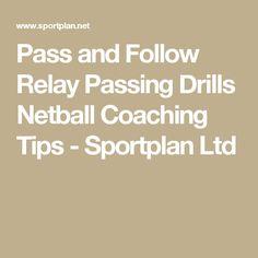 Pass and Follow Relay Passing  Drills  Netball  Coaching Tips  - Sportplan Ltd