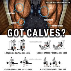 ✅ Got Calves? Try this next time and tag that mate that could use a pair . Calves are stubborn. They're that pain in the ass muscle… Calf Training, Big Muscle Training, Strength Training, Leg Day Workouts, Chest Workouts, Cardio Workouts, Workout Gear, Build Muscle Fast, Gain Muscle