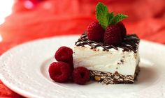 Healthy Valentine's Day Desserts -- Coconut Mousse Cheesecake Bars!
