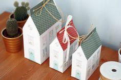 Papierowy domek – pudełko na prezenty   DIY