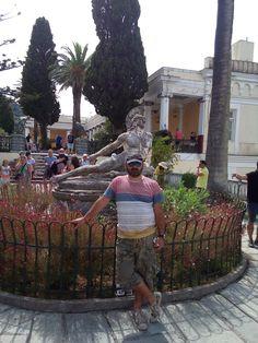 Αχιλλέας θνήσκων!!! Corfu Greece, Street View