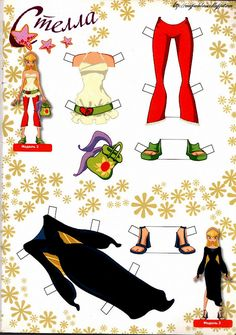 Paper Dolls Clothing, Barbie Paper Dolls, Bolo Barbie, Paper Dolls Printable, Light Novel, Winx Club, Cover Pages, Book Activities, Activity Books