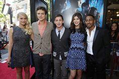 Cast of Percy Jackson:Sea of Monsters (Leven Rambin; Douglas Smith; Logan Lerman; Alexandra Daddario; Brandon T. Jackson)
