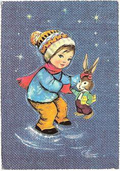 Postcard, kid