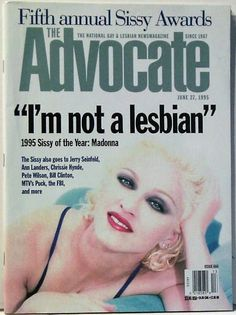 #Madonna on the Cover of The Advocate #MadonnaCovers #BedtimeStories