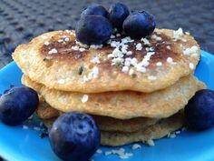 In honor of #PancakeDay, Debbie whips up some #paleo #gluten-free #vegan #sugarfree Blueberry Hemp Seed Pancakes! http://sweetdebbiesorganiccupcakes.com/blueberry-hemp-power-pancakes/