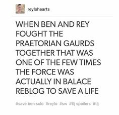 THEY ARE THE BALANCE OF THE FORCE