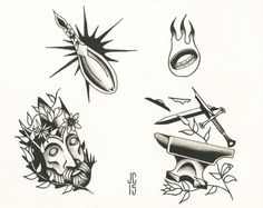 Lord of the rings Tattoo flash sheet by HolySmokeTattoo on Etsy #tattooflash…