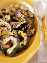 Get your squash fix with a taste of rich dark vinegar: Balsamic-Glazed Squash #siderecipes #Italianinspired