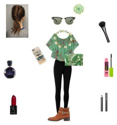 """Floral beauty"" by amycat24 ❤ liked on Polyvore featuring moda, Max Studio, OTTE, Donald J Pliner, Casetify, Maybelline, Carole, Stella & Dot, Ray-Ban i Gucci"