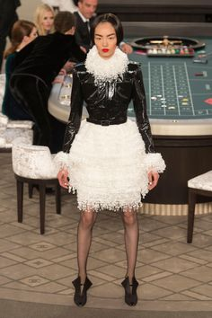 A look from the fall 2015 Chanel Couture collection. Photo: Imaxtree.