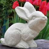 Image detail for -... Garden Statues : A fun Rabbit sculpture garden statue bunny concrete