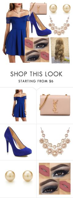 """""""Untitled #51"""" by sara-bitch1 ❤ liked on Polyvore featuring Charlotte Russe, Yves Saint Laurent, Jessica Simpson, Vivienne Westwood and Tiffany & Co."""