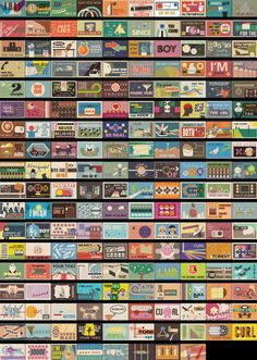 "178 Czech Matchbox Designs: Czech illustrator and designer Pavel Fuksa created yes, 178 illustrations on matchbox covers for the video ""My Place"" by the Navigators"