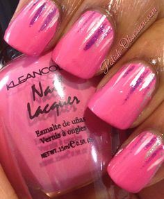 Waterfall #nailart and @kleancolor Strawberry Dream