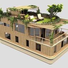 Can be achieved with two long shipping containers next to each other with two me. Can be achieved with two long shipping containers next to each other with two medium containers nex Shipping Container Homes, Shipping Containers, Casas Containers, Lakefront Property, Floating House, Wonders Of The World, Future House, Tiny House, Architecture Design
