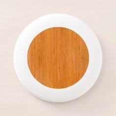 #wood - #Amber Bamboo Wood Grain Look Wham-O Frisbee