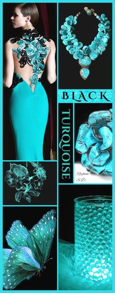 Wedding decoracion black color schemes new Ideas Colour Pallette, Colour Schemes, Color Trends, Color Patterns, Color Combinations, Shades Of Turquoise, Turquoise Color, Mood Colors, Colours