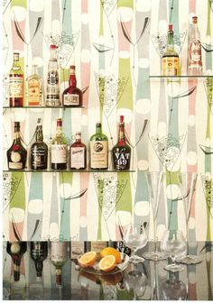"Home Bar, 1958. Germany. From the publication ""Kunststoffe im..."