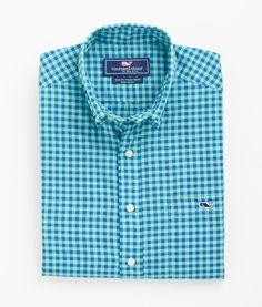 Shop Men's Islet Gingham Tucker Shirt   Vineyard Vines®