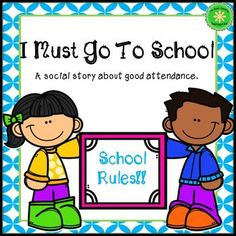 Attendance Social Story off for 48 hours! Elementary School Counseling, Elementary Education, Primary Classroom, Classroom Ideas, Coping Skills, Life Skills, Separation Anxiety, Social Emotional Learning, Social Stories