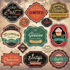 colección de etiquetas grunge retro vintage, insignias y los iconos - Ilustración de stock: 13203325