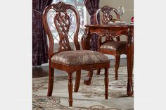 Caesar Palace American Style Armless Dining Chair - MelodyHome.com