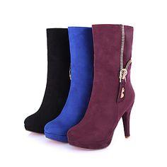 47912bf6d4   39.99  Γυναικεία Παπούτσια Δερματίνη Φθινόπωρο   Χειμώνας Ανατομικό    Μπότες Ιππασίας   Μοντέρνες μπότες Μπότες Τακούνι Στιλέτο   Πλατφόρμα