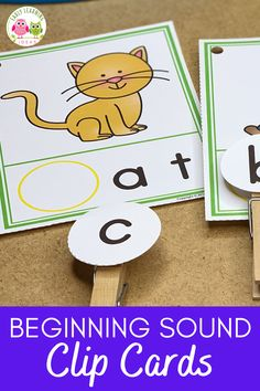 Use these CVC Beginning Sound Clip cards to help your kids hear and see the beginning sounds in words. They will love this hands-on early literacy activity...perfect for teaching early literacy concepts in your preschool, pre-k, or kindergarten classroom or at home. 17 word families are included. Looking for ideas for teaching rhyming, letter sounds, phonemic awareness, and phonological awareness? These activities are perfect for your literacy centers as independent and small group… Preschool Activities At Home, Word Family Activities, Preschool Literacy, Alphabet Activities, Language Activities, Early Literacy, Literacy Activities, Literacy Centers, Teaching Resources