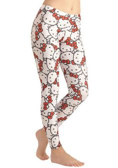 Kitten the Dance Floor Leggings, #ModCloth    OMG. I think I am having a heart attack from the cuteness overload.