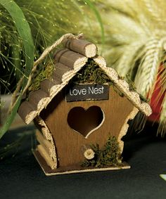Miniature Wooden Birdhouses (pack of 4)  Everything But The Wedding Dress, www.EverythingButTheWeddingDress.com
