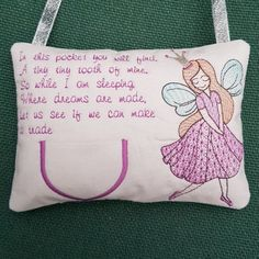 Tooth Pillow, Tooth Fairy Pillow, Machine Embroidery Designs, Embroidery Hoops, Hand Sewing, Teeth, Easy Light, Reusable Tote Bags, Pillows