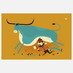 Year Of The Ox Print 19x12.5, $19, now featured on Fab.,reg. $25,from Little Friends