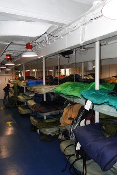 Got to sleep on board it was a tight fit. General Quarters: USS Yorktown