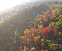 Beautiful Fall Color flying over the Brighton, Michigan countryside in a hot air balloon.