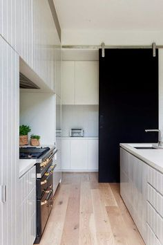Edwardian House Extended and Renovated into Modern Home Pantry Room, Walk In Pantry, Kitchen Pantry, Kitchen Dining, Kitchen Decor, Kitchen Cabinets, Hidden Pantry, Kitchen Ideas, Diy Kitchen