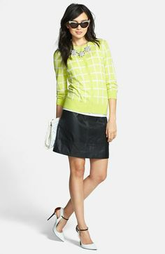 Halogen® Cardigan & A-Line Skirt  available at #Nordstrom