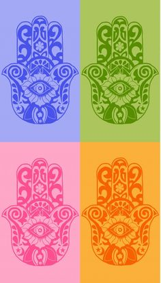 Ward off the evil eye with these hamsa eye of Fatima design iPhone wallpapers. Choose from these four colors.