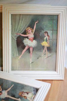 vintage ballerina art