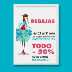 """REBAJAS en IM, Todo nuestros productos con un 50% de descuento. Del 21 a 31 de julio. Código de descuento: """"rebajasjulio"""". / SALES on IM. 50% discount on all of our products. From 21 to 31 of July. Discount code: """"rebajasjulio"""" #rebajas #50%dto #ilustracion #laminas #personalizadas #edicionlimitada #cuadros #infantil #animales #sales #50%off #illustration #customprints #limitededition #animals #elves #fairies #kidsroom"""