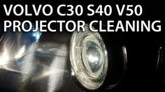 Headlights projector lens disassemble and cleaning in #Volvo V50 S40 C30 C70 (halogen #xenon bixenon)