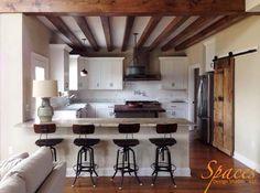 SDS- Residential Design Modern Farmhouse Exposed Beam, Barn Door