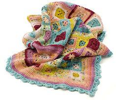 jujuspots' Koigu Cute - Babette Blanket by Kathy Merrick